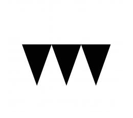 Гирлянда флажками, черного цвета (4,5 м)