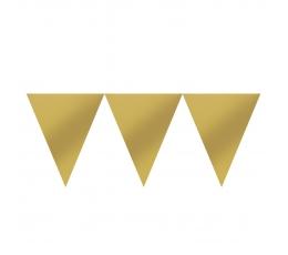 Karodziņu virtene, zelta krāsā (4,5 m)
