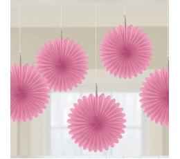 Karināmās dekorācijas, maigi rozā vēdekļi (5 gab/ 15 cm)