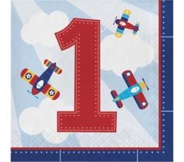 """Salvetes """"Lidmašīnas. 1-ā dzimšanas diena"""" (16 gab)"""