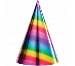 Cepurīes, spīdīgas varavīksnes krāsās (8 gab)