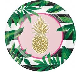 """Šķīvīšī """"Zelta ananasi"""" (8 gab/ 22 cm)"""