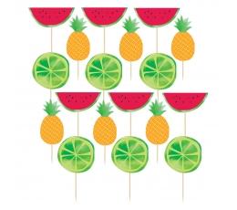 """Irbulīši dekorācijas """"Augļu asortī"""" (24 gab)"""