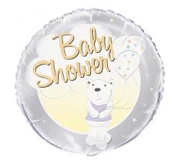 """Folija balons """"Lācītis- Baby shower"""" (45 cm)"""