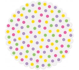 Salvetes/ paliktņi, krāsaini punktiņi (16 gab/ 25 cm)