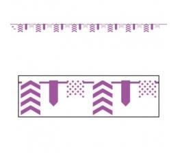Virtene, svītraina-punktaina, violeta (3,3 m)