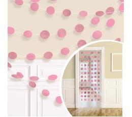 Karināmas dekorācijas, spīdīgas-rozā (6 gab/ 2,13 m)