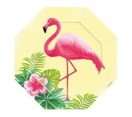 "Formīgi šķīvīši ""Rozā flamingo"" (8 gab/ 18 cm)"