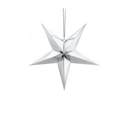 """Karināma dekorācija """"Zvaigznes"""", sudraba -spīdīga (45 cm)"""