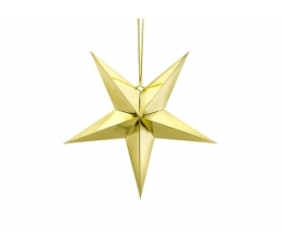 """Karināma dekorācija """"Zvaigzne"""" , zelta spīdīga (45 cm)"""