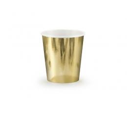 Glāzītes, zelta spīdīgas (6 gab/ 180 ml)