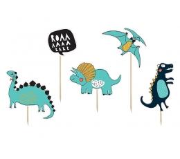 """Irbulīši dekorācijas """"Piktie dinozauri"""" (5 gab)"""