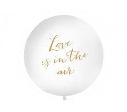 "Гигантский воздушный шар ""Love is in the air"", белый (1 м)"