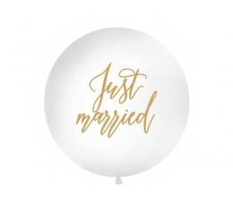 """Гигантский воздушный шар """"Just married"""", белый (1 м)"""
