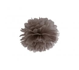 Бумажный помпон, коричневый (25 см)
