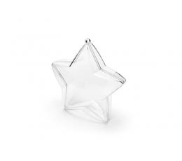 """Caurspīdīgas kastītes """"Zvaigznītes"""" (3 gab/ 10 cm)"""