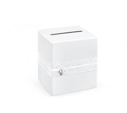 "Коробка для открыток ""Белые кружева"" (24х24х24 см)"