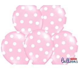 Balons, maigi rozā ar punktiem (30 cm)