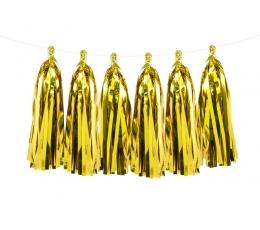 Гирлянда бумажной бахромой, золотого цвета (1,5 м)