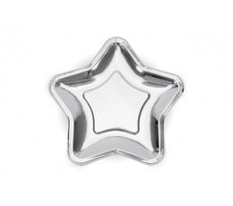 "Šķīvīši ""Sudraba zvaigznes"", formīgas (6 gab/18 cm)"