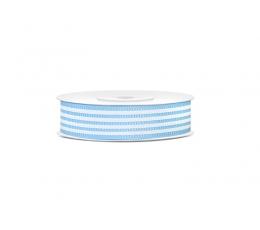 Dekoratīva lente,gaiši zila svītraina (18 mm/ 10 m)