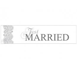 """Automašīnas numurzīme """"Just married"""" rakstaina (1 gab)"""
