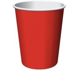 Glāzītes, sarkanas (8 gab/266 ml)