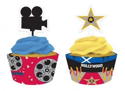 """Kēksiņu dekorācijas """"Holivuda"""" (12 gab)"""