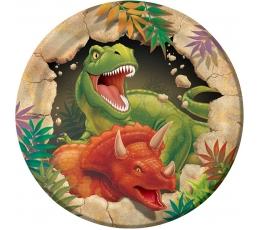 """Šķīvīši """"Dinozaurs Dins"""" (8 gab/18 cm)"""