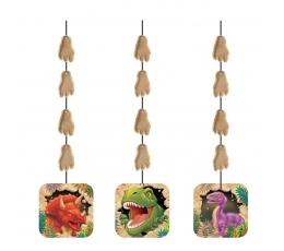 """Karināmās dekorācijas """"Dinozaurs Dins"""" (3 gab)"""