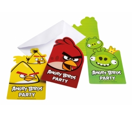 "Ielūgumi ""Angry Birds"" (6 gab)"