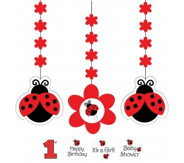 """Karināmās dekorācijas ar uzlīmēm """"Bizbizmārīte"""" (3 gab)"""