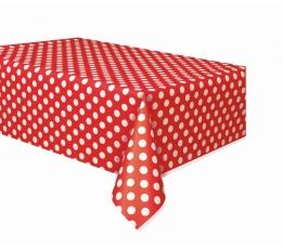 Galdauts, sarkans punktains (137x274 cm)