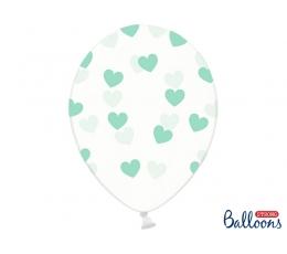 Caurspīdīgi balons, piparmētras sirsniņas (30 cm)