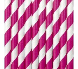 Salmiņi , rozā plati strīpaini (10gab)