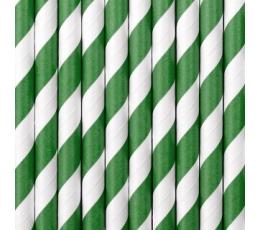 Salmiņi, zaļi-svītraini (10 gab)