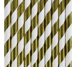 Соломки , золотые -в полоску  (10 шт)