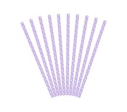 Соломки , фиолетовые, в горошек  (10 шт)