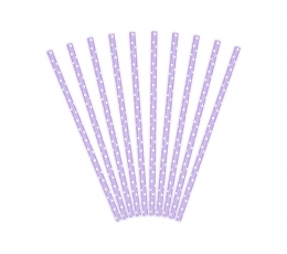 Salmiņi, violeti, smalki punktaini (10 gab)
