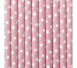 Salmiņi, rozā ar baltiem punktiem (10 gab)