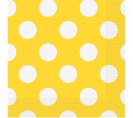 Salvetes, dzeltenas ar punktiem (16 gab)