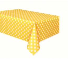 Galdauts, dzeltens punktains (137x274 cm)