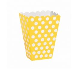 Kastītes uzkodām, dzeltenas ar punktiem (8 gab)