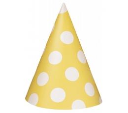 Cepurītes, dzeltenas ar punktiem (8 gab)