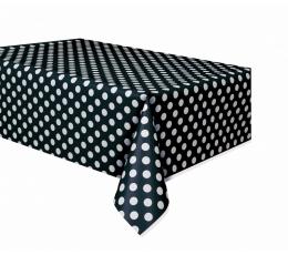 Galdauts, melns punktains (137x274 cm)