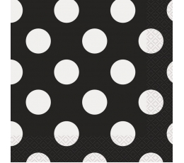 Salvetes, melnas ar punktiem (16 gab)
