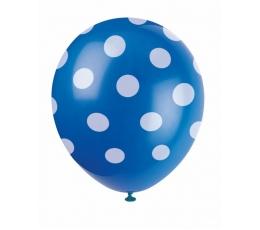Baloni, zili ar punktiem (6 gab/30 cm)