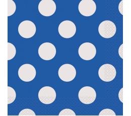 Salvetes, zilas ar punktiem (16 gab)