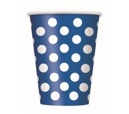 Glāzītes, zilas ar punktiem (6 gab/355 ml)