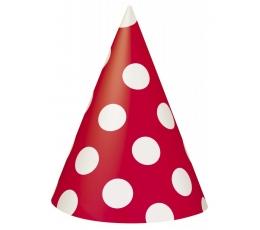 Cepurītes, sarkanas ar punktiem (8 gab)